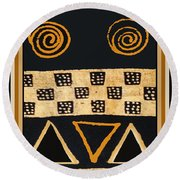 African Primordial Spirits - 2 Round Beach Towel by Vagabond Folk Art - Virginia Vivier