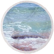 African Seashore Round Beach Towel