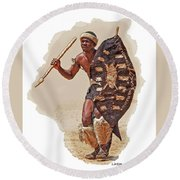 African Tribal Traditions 1 Round Beach Towel