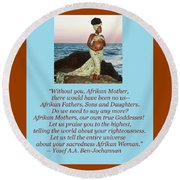 Afrikan Mother Round Beach Towel