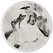 After A Work By Louis Legrand Entitled Round Beach Towel