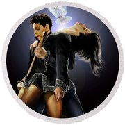 After Doves Cry They Fly Prince Round Beach Towel