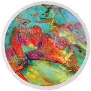 After Every Storm The Sun Will Smile - Colorful Abstract Art Painting Round Beach Towel