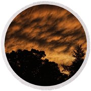 After Storm Sunset Round Beach Towel