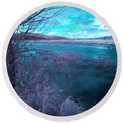 Round Beach Towel featuring the photograph After Storm Surrealism by Chriss Pagani