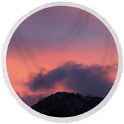 Round Beach Towel featuring the photograph After Sunset - Panorama by Shane Bechler