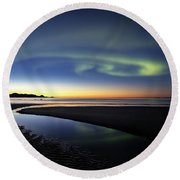 After Sunset V Round Beach Towel