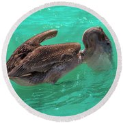 After The Dive Southern Most House Key West Round Beach Towel