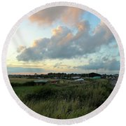 Round Beach Towel featuring the photograph After The Rain by Anne Kotan