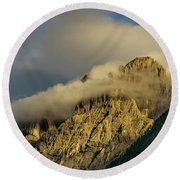 After The Rain In The Austrian Alps. Round Beach Towel