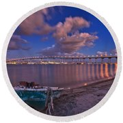 After The Rain Round Beach Towel by Sam Antonio Photography