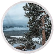 After The Snow - 0629 Round Beach Towel