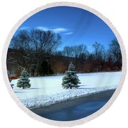 After The Snow Round Beach Towel