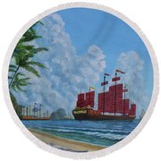 After The Storm Round Beach Towel by Anthony Lyon