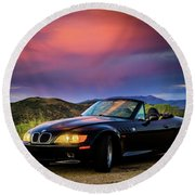 After The Storm - Bmw Z3 Round Beach Towel