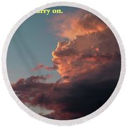 After The Storm Carry On Round Beach Towel