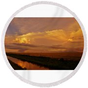 Round Beach Towel featuring the photograph After The Storm by Ed Sweeney