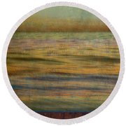 Round Beach Towel featuring the photograph After The Sunset - Teal Sky by Michelle Calkins