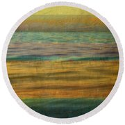 Round Beach Towel featuring the photograph After The Sunset - Yellow Sky by Michelle Calkins