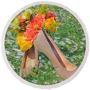 Round Beach Towel featuring the photograph After The Wedding by Geraldine DeBoer