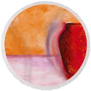 Round Beach Towel featuring the painting Afterglow by Marlene Book