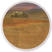 Afterglow On The Palouse Round Beach Towel