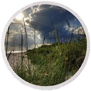 Afternoon At A Sanibel Dune Round Beach Towel