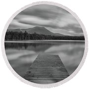 Afternoon At Daciey Pond Round Beach Towel