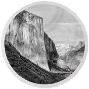 Round Beach Towel featuring the photograph Afternoon At El Capitan by Sandra Bronstein