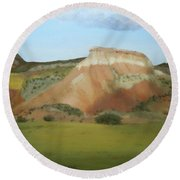 Afternoon At Ghost Ranch Round Beach Towel