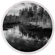Afternoon Photo At Franklin Parker Preserve Round Beach Towel
