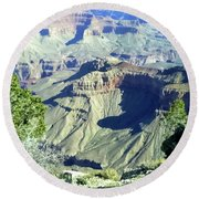 Afternoon View Grand Canyon Round Beach Towel