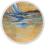 Afternoon Winds Round Beach Towel