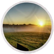 Afton Va Sunrise Round Beach Towel