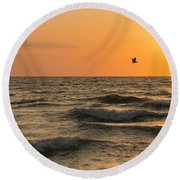 Against The Wind Round Beach Towel by Christopher L Thomley
