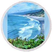 Agate Beach Round Beach Towel