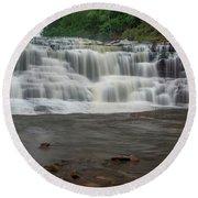 Agate Falls Round Beach Towel