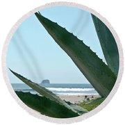 Agave Ocean Sky Round Beach Towel