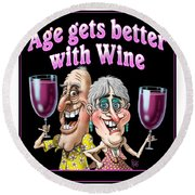 Age Gets Better Couple Round Beach Towel