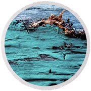 Aged And Weathered Round Beach Towel