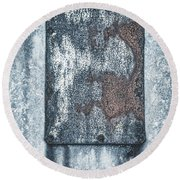 Aged Wall Study 1 Round Beach Towel