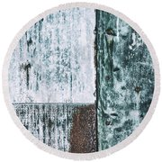Aged Wall Study 4 Round Beach Towel