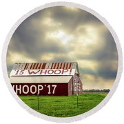Round Beach Towel featuring the photograph Aggie Barn by David Morefield
