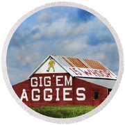 Aggie Nation Barn Round Beach Towel