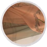 Aging Tulips Silk Round Beach Towel