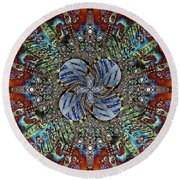 Agitated Round Beach Towel by Jim Pavelle