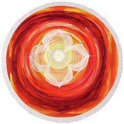 Agni Round Beach Towel