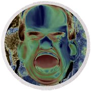 Agony And Misery Round Beach Towel