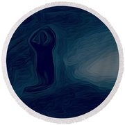 Agony Of The Outside World 1 Round Beach Towel