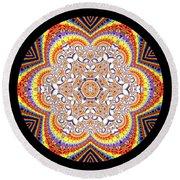 Round Beach Towel featuring the digital art Ahau 6.2 by Robert Thalmeier